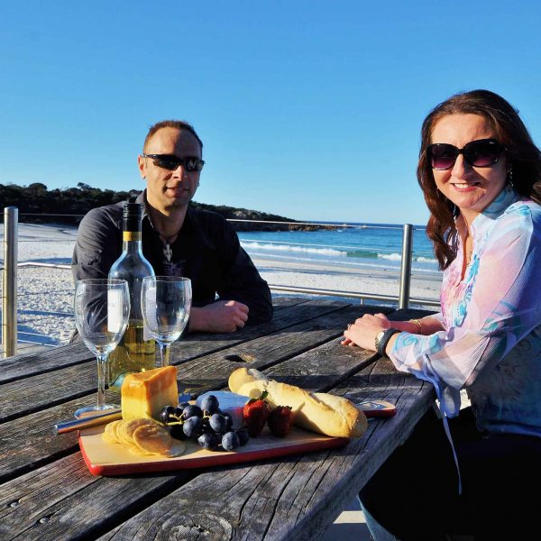 Waratah Wynyard Council - Couple With Wine And Cheese At Boat Harbour